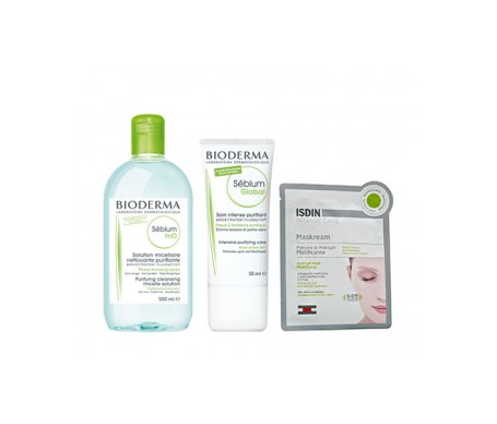 Bioderma Sébium H2O 500ml + Sébium Global 30ml + Maskream® Hidrogel Matificante 30ml