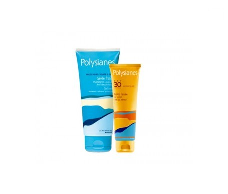 Polysianes gel nacarado al monoï SPF30+ 125ml + Polysianes gel aftersun 150ml