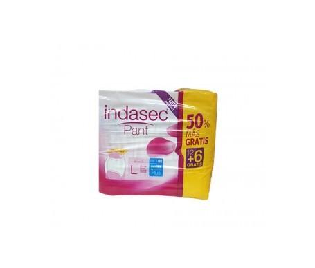 Indasec® Pant Plus talla grande 12uds+6uds