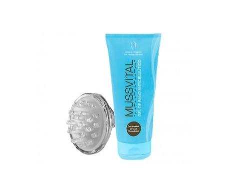 Mussvital gel de baño anticelulítico 200ml + regalo masajeador