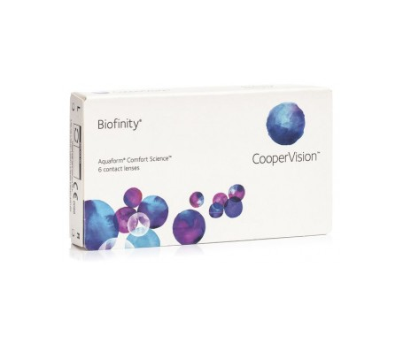 Biofinity®  radio 8.6  diámetro 14.0  dioptrías -04.25  6uds