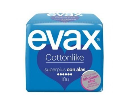 Evax compresas Cottonlike Superplus con alas 10uds