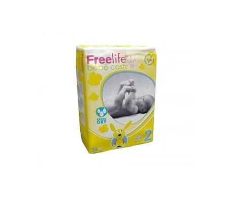 Bebé Cash Freelife pañales talla 2 56uds