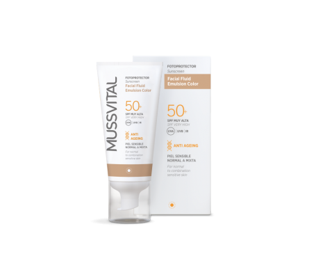 Mussvital emulsión facial fluid color SPF50+ 50ml