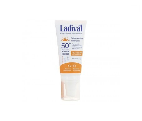 Ladival®  piel sensibles  o alérgicas SPF50+ gel crema con color 50ml