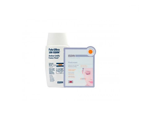 Foto Ultra  100 ISDIN® Pack active unify SPF 50+ Maskream active unify 30ml