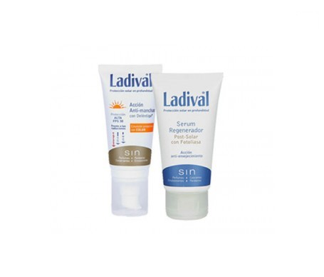 Ladival® antimanchas SPF30+ color 50ml + sérum regenerador 50ml