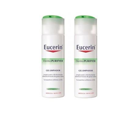 Eucerin DermoPurifyer gel limpiador piel grasa 200ml+200ml