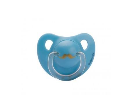 Suavinex® chupete anatómico silicona +6m tonos Azules 1ud