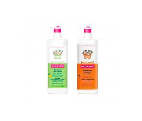 Klorane Petit Junior gel doccia alla fragola 500ml + shampoo disgregante 500ml