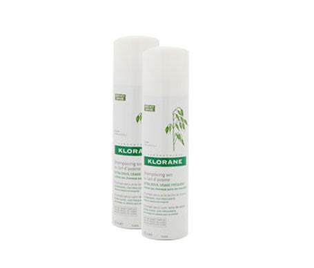 Klorane Shampoo al latte di Avena Secca per Capelli Scuri 2x150ml