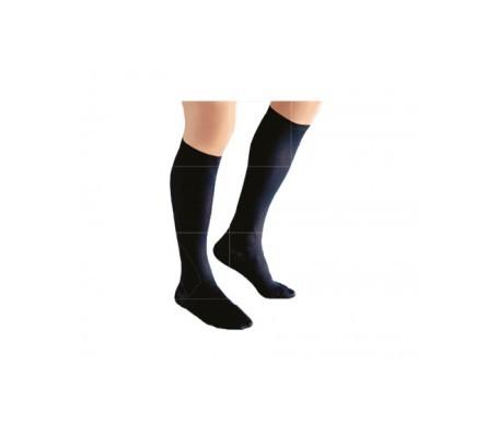 Medilast calcetín marrón compresión ligera T-L 1par
