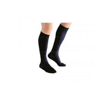 Medilast calcetín Silver Edition compresión preventiva negro T-S