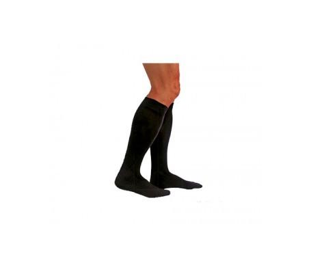 Medilast calcetín Silver Edition compresión normal negro T-S