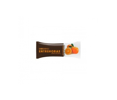 Obegrass Entrehoras barrita chocolate negro y naranja 1ud