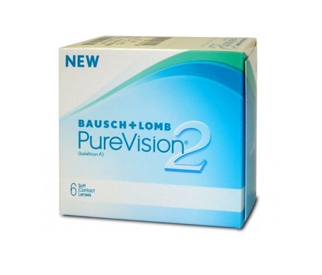 Bausch & Lomb PureVision® 2 6uds dioptrías  -04.00 radio 8.6