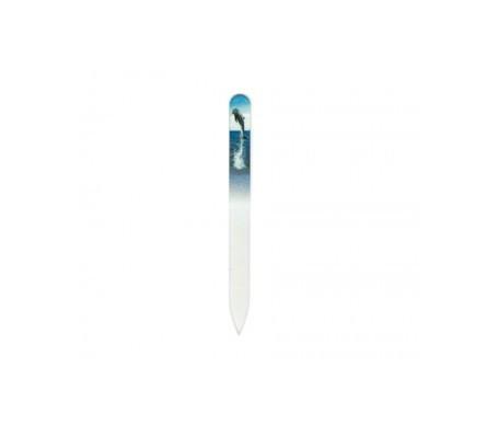 Bohema lima de cristal templado delfín 1ud