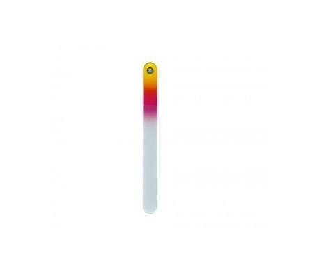 Bohema lima de cristal templado amarillo-frambuesa 1 ud