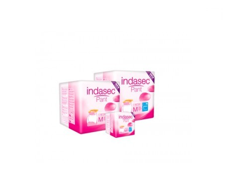 Indasec® Pant Plus talla media 12uds+12uds + REGALO 3uds