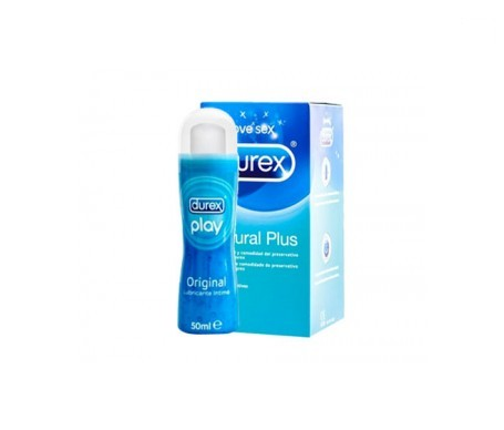 Durex® Natural Plus Easy-On preservativos 24uds + Durex® Play Original lubricante 50ml