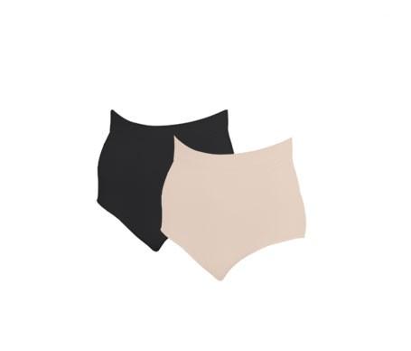 Anaissa braguita alta compresiva efecto 3D color beige/negro T-XL 2uds