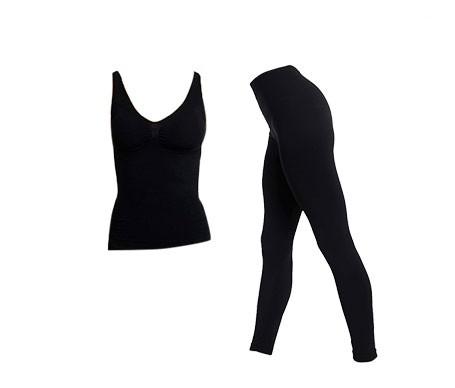 Anaissa camiseta reductora y leggings color negro T-L