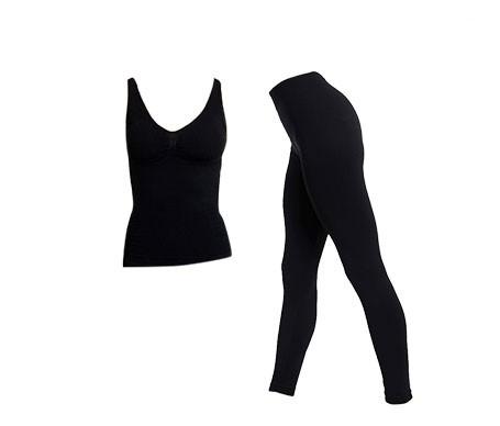 Anaissa camiseta reductora y leggings color negro T-M