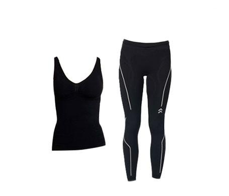 Anaissa camiseta reductora y legging push up color negro T-M