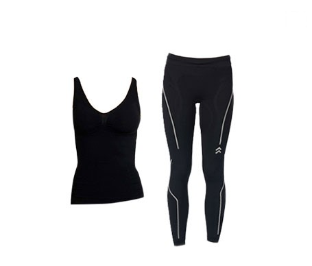 Anaissa camiseta reductora y legging push up color negro T-L