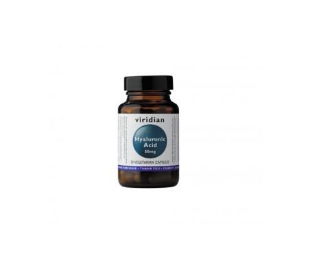 Viridian ácido hialurónico 50mg 30cáps