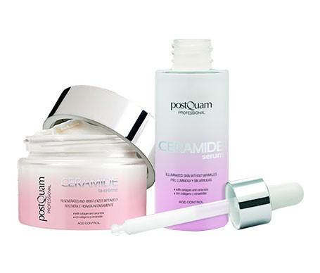 Postquam Pack Ceramide age control 50ml + sérum 30ml y aplicador cremas de regalo