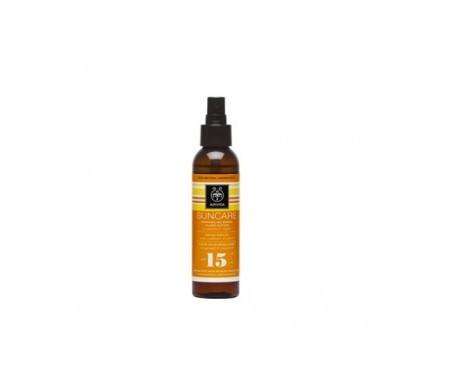 Apivita Suncare aceite solar bronceador SPF15+ con girasol y zanahoria 150ml