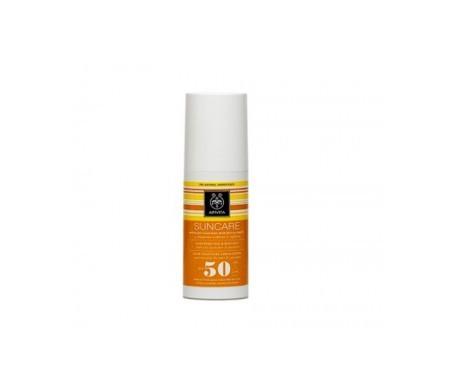 Apivita Suncare leche protectora solar para el rostro y el cuerpo SPF50 100ml