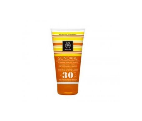 Apivita Suncare leche protectora solar para el rostro y el cuerpo SPF30 150ml