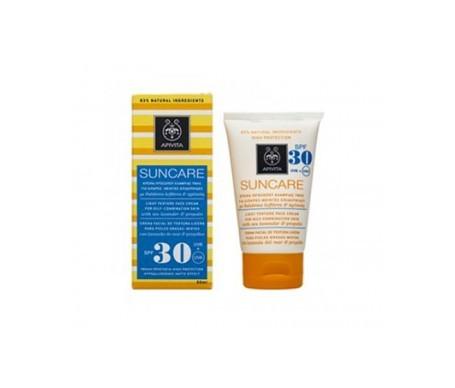 Apivita Suncare crema facial textura ligera piel normal/seca SPF30 50ml