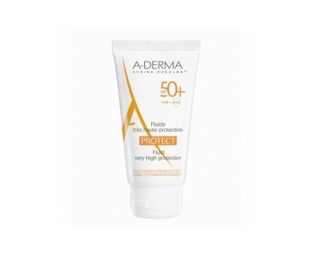 A-derma crema fotoprotectora SPF50 para pieles normales y mixtas 40ml