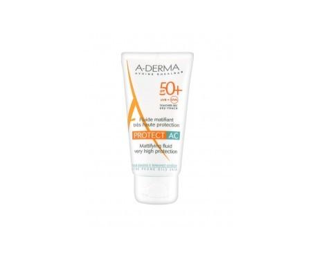 A-derma crema fotoprotectora matificante SPF50 para pieles grasas 40ml