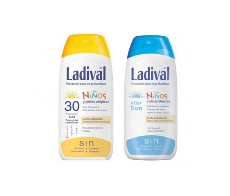 Ladival® Pack niños y pieles atópicas FPS30+ leche hidratante 200ml + after sun 200ml
