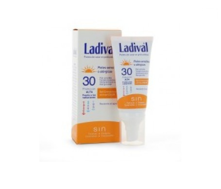 Ladival® pieles sensibles o alérgicas SPF30+ gel facial color 50ml