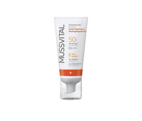 Mussvital Facial crema fluida photoageing repair SPF50+ 50ml