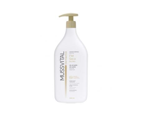 Mussvital dermactive gel de baño piel seca 1000ml