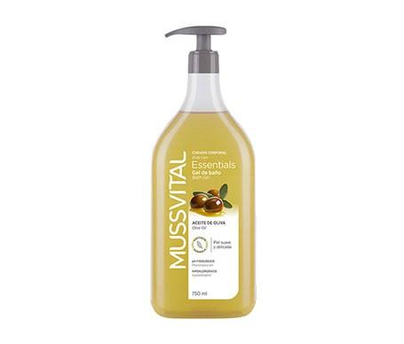 Mussvital Essentials gel de baño oliva con dosificador 750ml