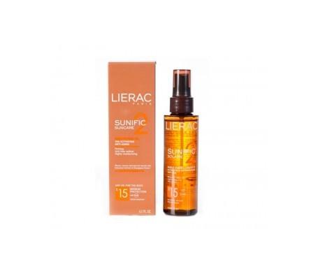 Lierac Sunific 2 Suncare aceite embellecedor activador de bronce 125ml