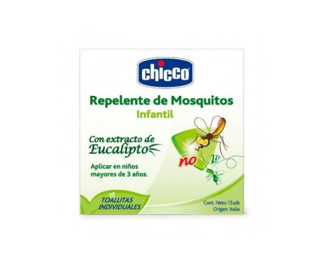 Chicco® Mosquino toallitas 15uds