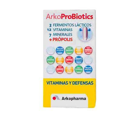 Arkoprobiotiques vitamines 7 minéraux défenses minérales propolis 30comp