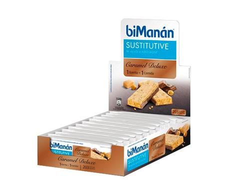 biManán® barrita caramel deluxe 12uds