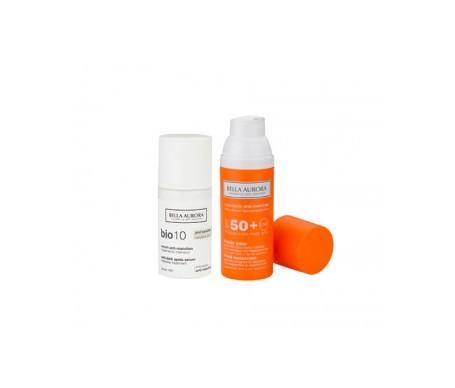 Bella Aurora Bio 10 anti-stain shock treatment serum 30ml + anti-stain solar fluid SPF50+ 50ml