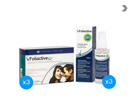 Foliactive pastillas 3udsx60comp + spray loción 3udsx100ml