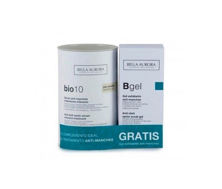 Bella Aurora Pack Bio 10 sérum antimanchas piel sensible + gel exfoliante 75ml