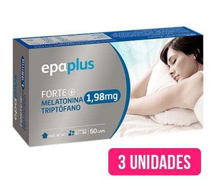 Epaplus Forte+ Melatonina y Triptófano 1,98mg 3udsx60cáps